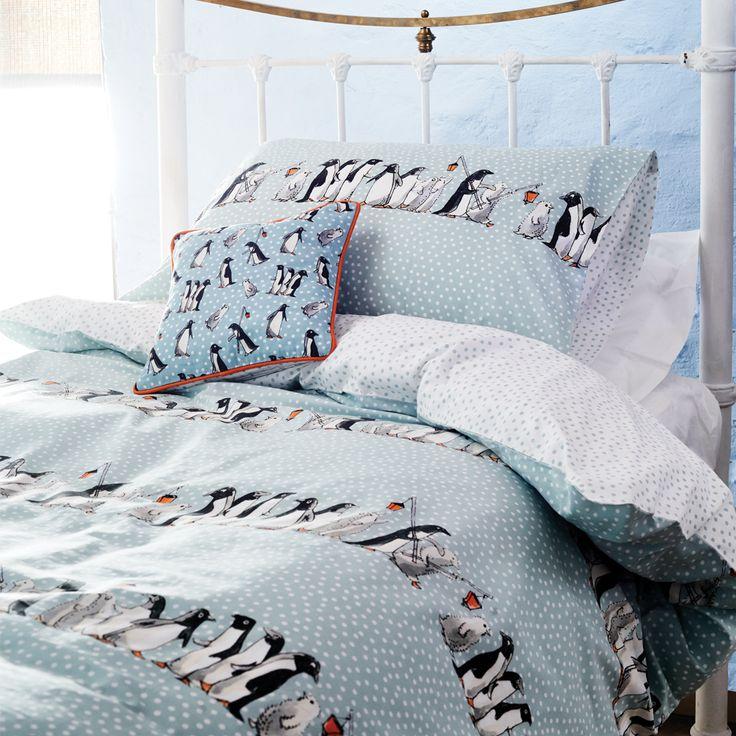"""Chatty Penguins"" Chatty Penguins Bedding at Emma Bridgewater"