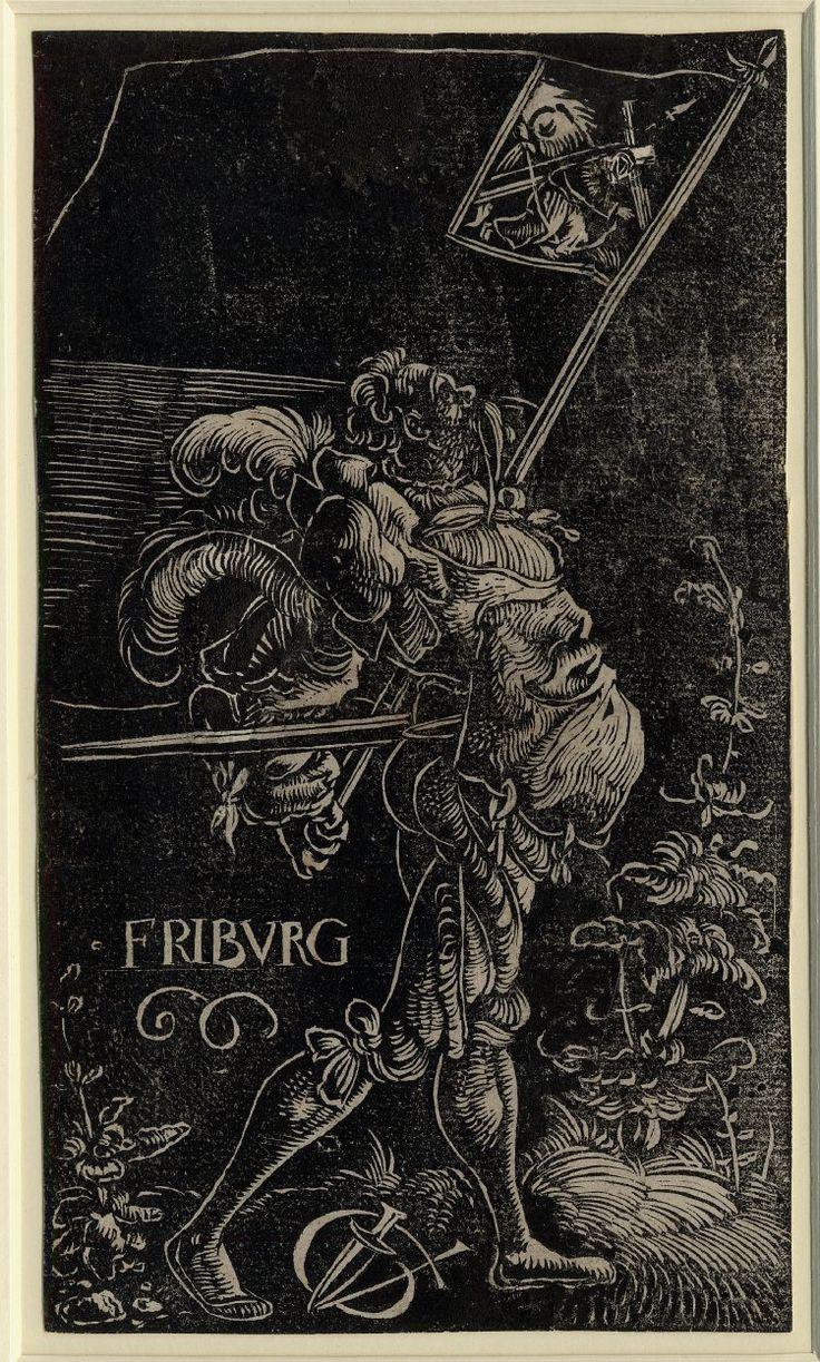 Standard Bearer of Fribourg by Urs Graf, 1521