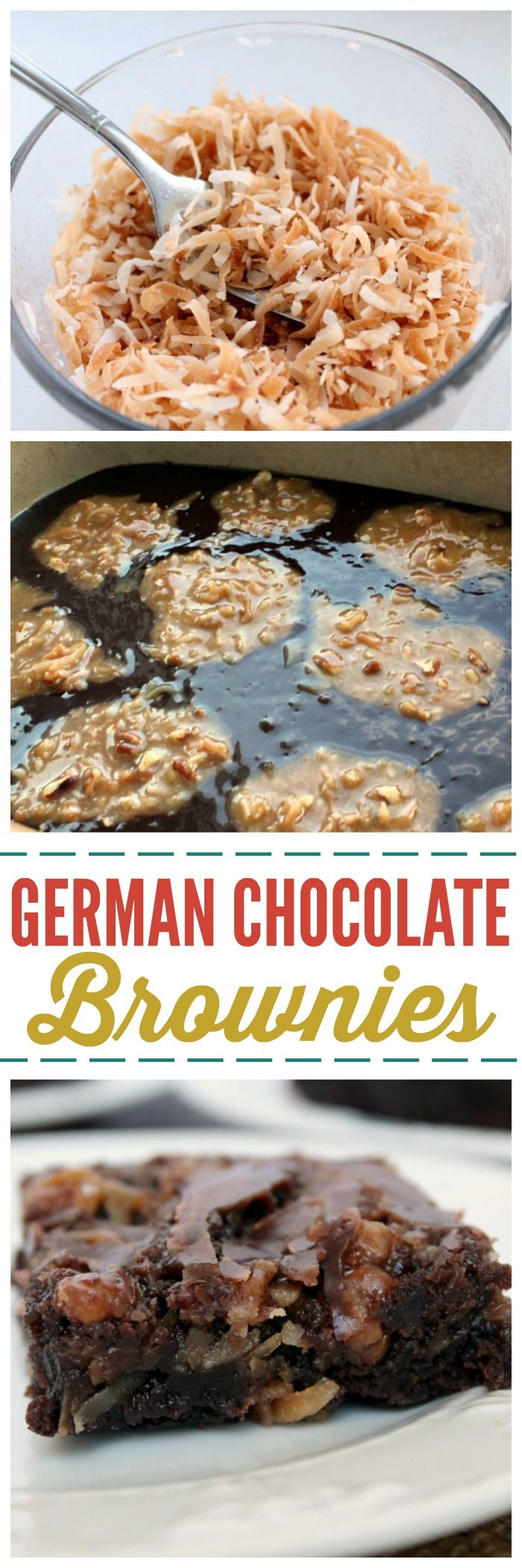 Take about Chocolate Therapy! These German Chocolate Brownies will leave you speechless and the recipe is SO easy! ~ http://reallifedinner.com (easy chocolate fudge cake gluten free)