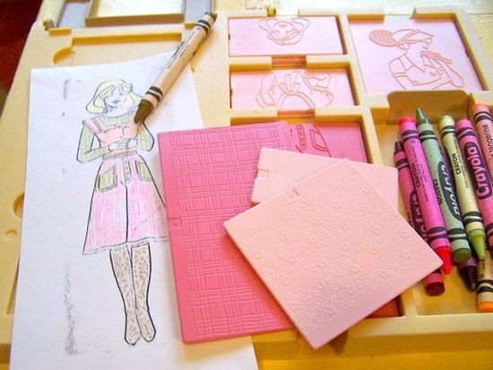 Remember these ?? ... fashion plates! I looooved