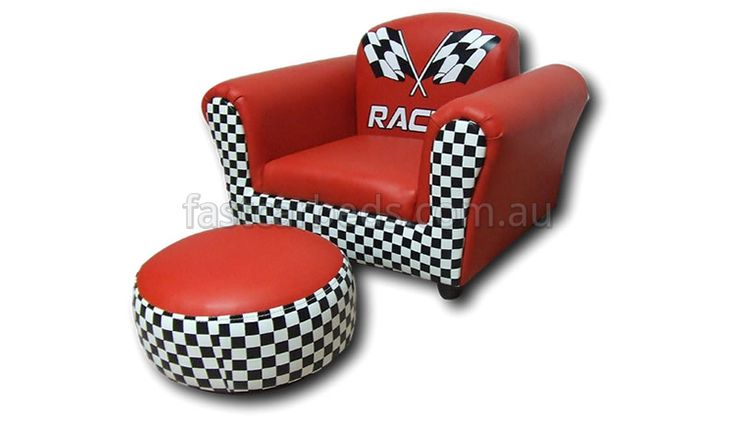 Exclusive Design Turbo Red Kids Sofa Chair