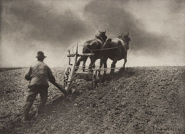 A Stiff Pull, by Peter Henry Emerson 1886
