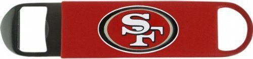 NFL San Francisco 49ers Long Neck Bottle Opener by NFL. $4.16. Want to be the ultimate host at your next San Francisco 49ers viewing party? Start by sporting 49ers pride while perfecting the role of bartender with this San Francisco 49ers Bottle Opener. Featuring a vibrantly-colored San Francisco logo on vinyl covering, this San Francisco 49ers Bottle Opener is an absolute must-have at every San Francisco 49ers fan's next party.