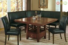 Salem 6 pc Breakfast Nook Dining Room Set Table, Corner Bench Seating & 2 Chairs