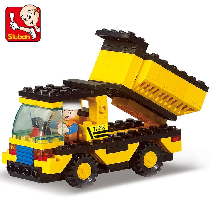 Genuine SLuban Blocks Heavy Engineering Series Children Educational Toy Truck Compatible with Lego