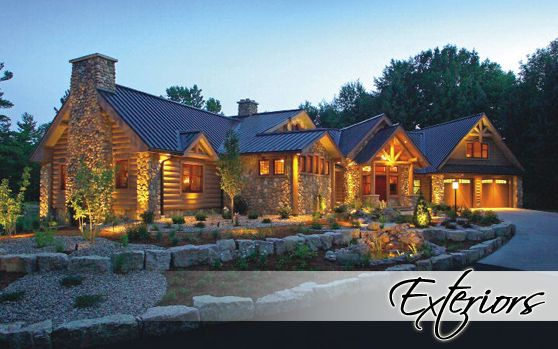 Luxury log cabin home favorite places spaces for Luxury log cabin builders