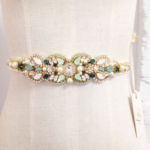326 Best Gown Sash And Belts Images On Pinterest Wedding