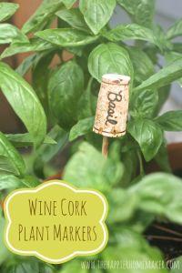 DIY Garden Markers #cork #gardening (super simple) @Allamode ⓐⓛⓛⓐmode✣✫Creative Pinner✣✫ ⓐⓛⓛⓐmode✣✫Creative Pinner✣✫
