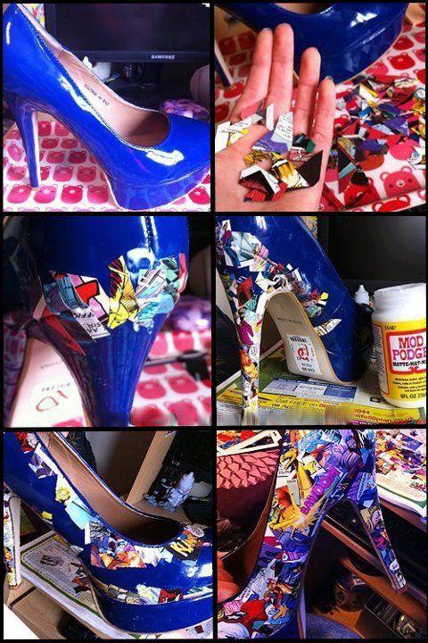 Customisation Chaussure Effet Bande Dessinée#