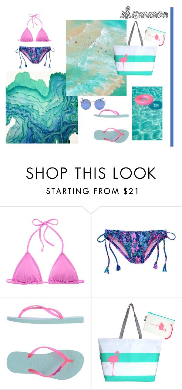 """""""Summer"""" by eviejessup on Polyvore featuring Victoria's Secret, Havaianas and Hayden Reis"""