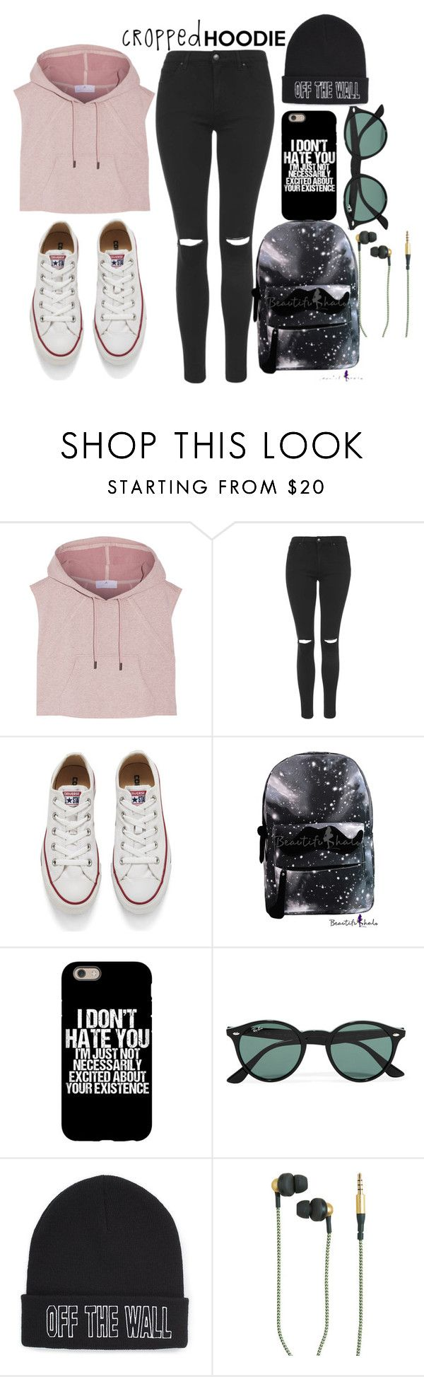 Polyvore featuring adidas, Topshop, Converse, Ray-Ban, Vans and Kreafunk
