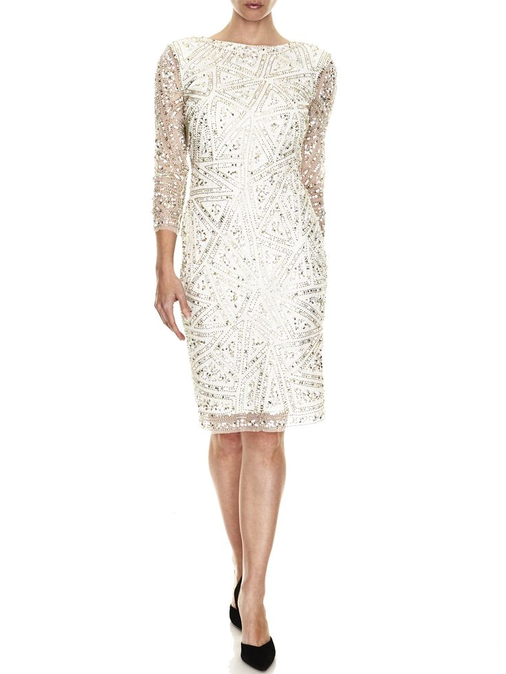 Dahlia Hand-Beaded Shift   Evening Dresses, Formal Dresses, Cocktail Dresses, Bridemaid dresses and Mother of the Bride at Will Hope Love