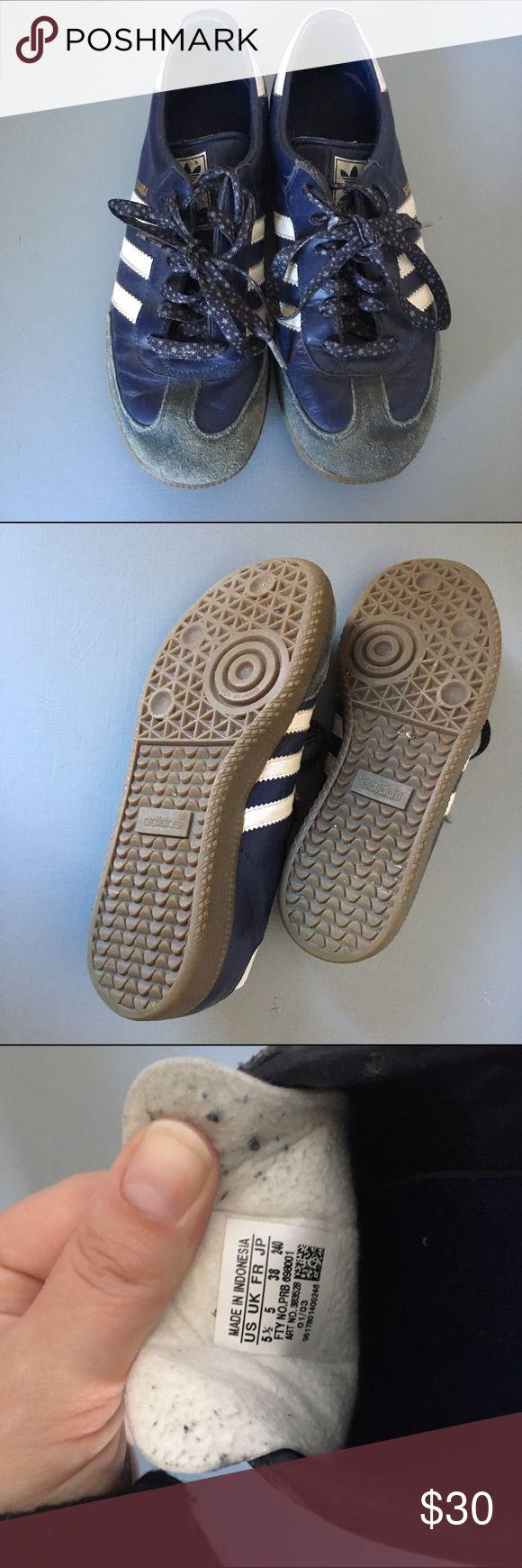 adidas samba blue suede