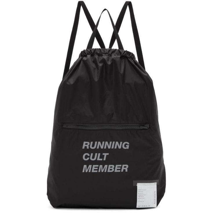 Satisfy - Black 'Running Cult Member' Gym Backpack