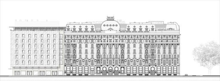 Il progetto di rinnovo ed ampliamento dell'Hotel Excelsior Gallia si articola in due fasi diverse ma tra loro coordinate. Una selezione internazionale ha conferito il progetto di architettura e di interni alla studio Marco Piva, affidando il progetto delle strutture e degli impianti ad Arup.