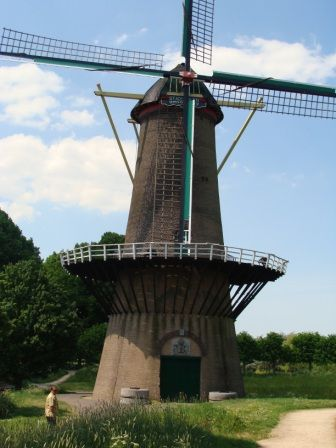The old stone windmill at Hulst, Zeeland, Netherlands.