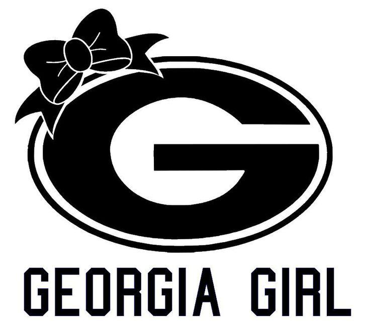 Georgia Girl Car Vinyl Decal Sticker UGA  University of Georgia