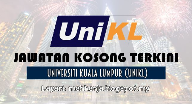 Jawatan Kosong di Universiti Kuala Lumpur (UniKL) - 1 Sept 2016   Universiti Kuala Lumpur is presently a leading technical university in the country operating from eight campuses nationwide. As part of our expansion plan we invite suitably qualified candidates to be part of our team.  Jawatan Kosong Terkini 2016diUniversiti Kuala Lumpur (UniKL)  Positions:  1. ADMINISTRATIVE OFFICER ADMINISTRATION & FACILITIES MANAGEMENT - UNIKL MITEC Closing date :01 September 2016  2. COUNSELOR STUDENT…