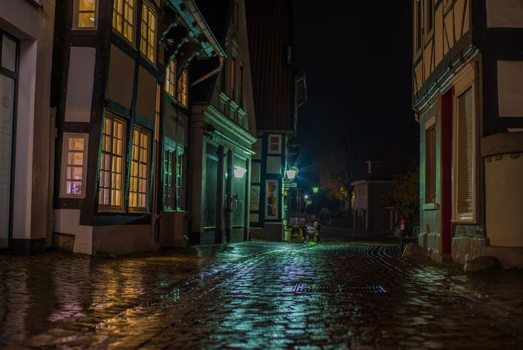 inthe streets of nienburg - a long-term exposure in the streets of nienburg