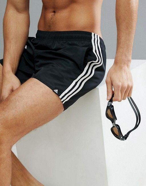 7187bd8be9 Adidas swim shorts with stripes in black cv5137 | •Aesthetic | Swim ...