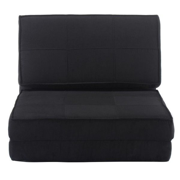 This Brand New Folding Bed Couch Which Is Made Of All High Quality Foam It Is Covered By Black Ultra Suede Fabric Couch Bed Sleeper Bed Folding Sofa