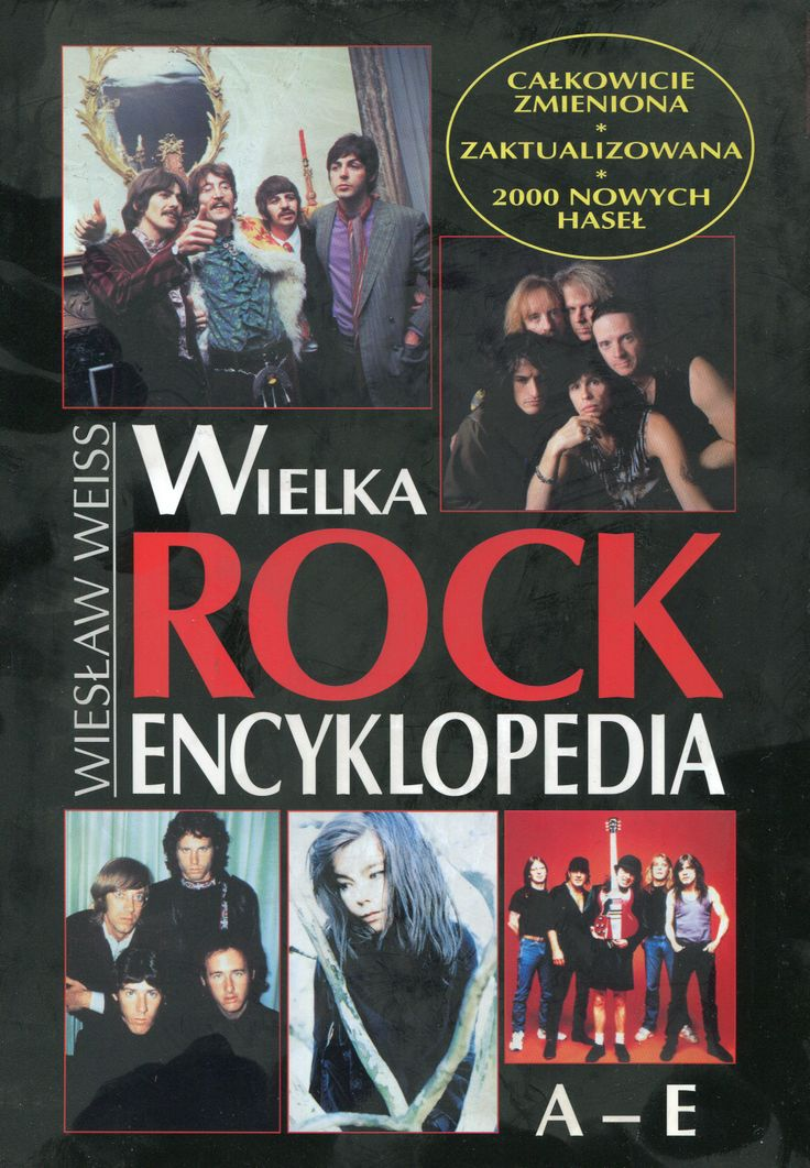 """Wielka Rock Encyklopedia A-E"" Wiesław Weiss Cover by Krystyna Töpfer Published by Wydawnictwo Iskry 2000"