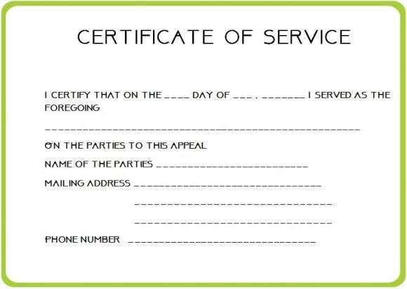 12 Service Certificate Templates Certificate Templates