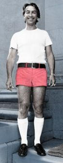 Don Dunstan • former Premier of South Australia • The first South Australian to grace the steps of Parliament House in his famous pink shorts • responsible for many progressive achievements in South Australia including Rundle Mall. Photo re-published by Herald Sun 9 Oct 2012. • Don Dunstan & his pink shorts • Adelaide city icon • Adelaide's icons • riawati