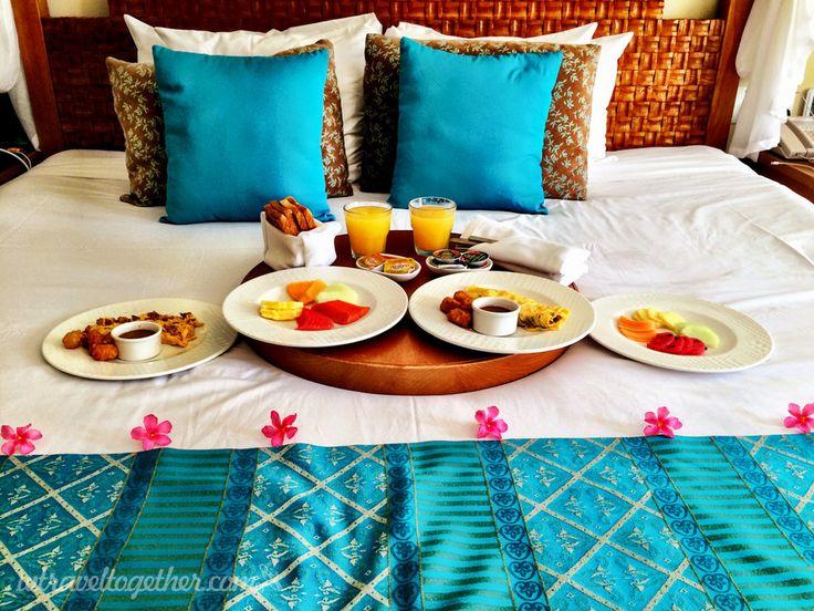 Breakfast in bed - Azul Senator, Riviera Maya, Mexico