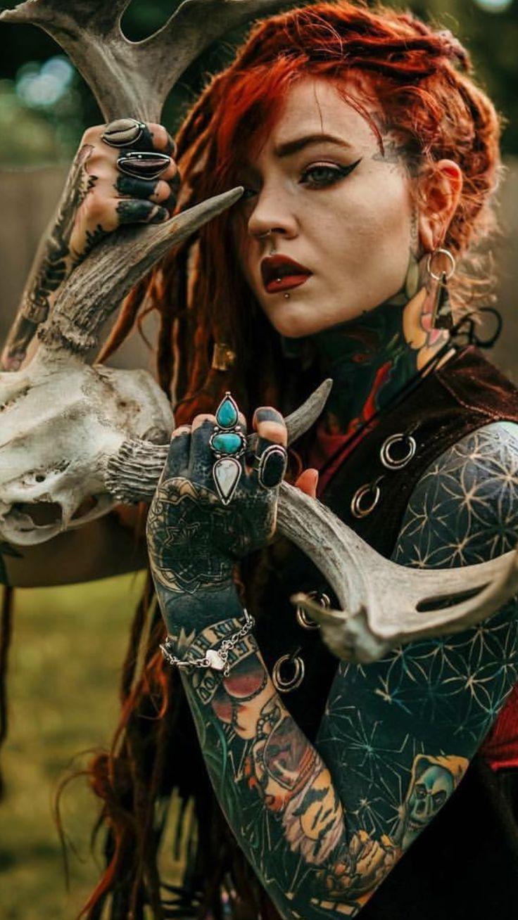 My aesthetic | Dreads girl, Tattooed girls models, Girl ...