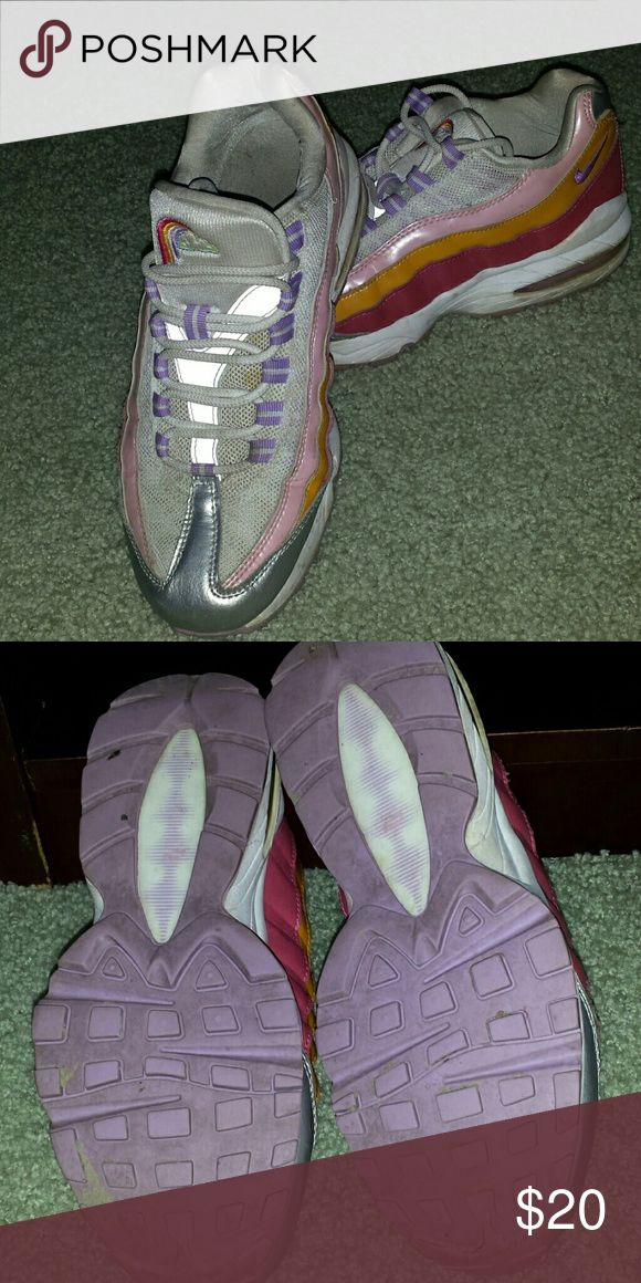 Nike rainbow sneakers Like new. The limited rainbow Nike sneaker. Very cushioned. Like new. Nike Shoes Sneakers