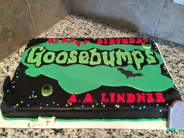 Goosebumps Cake Our Purple Sugar Pinterest Cakes