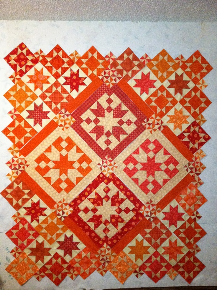 I'm not an orange person but I sure like this quilt! good job, Jamie in Louisiana!