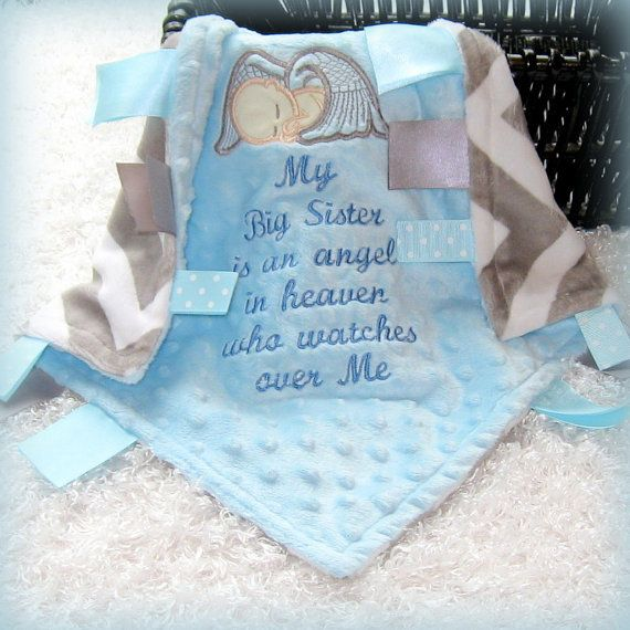 53 best personalized tag blankets images on pinterest tag blanket my sisterbrother angel in heaven lovey custom made minky remembrance gift baby negle Gallery