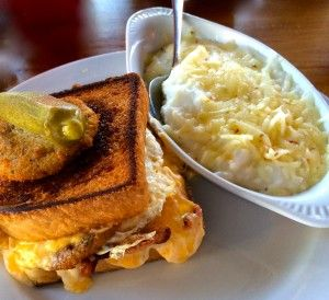 Fried Green Tomato, Thick Cut Bacon, Pimiento Cheese and Fried Egg Sandwich on Texas Toast - La Bella Vita Cucina