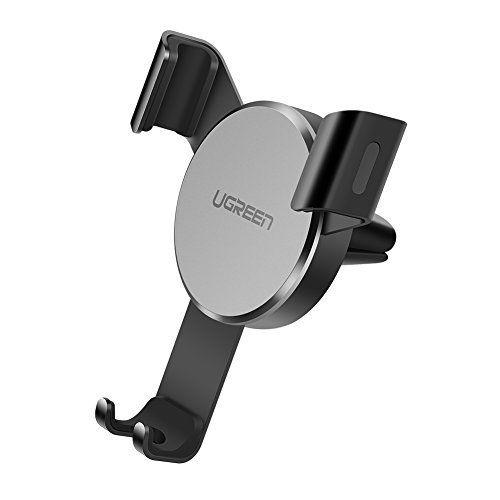 UGREEN Support Téléphone Voiture par Gravité Support Auto à Grille d'Aération en Aluminium pour iPhone X/ 8/ 8 Plus/ 7, Samsung Galaxy S8/…