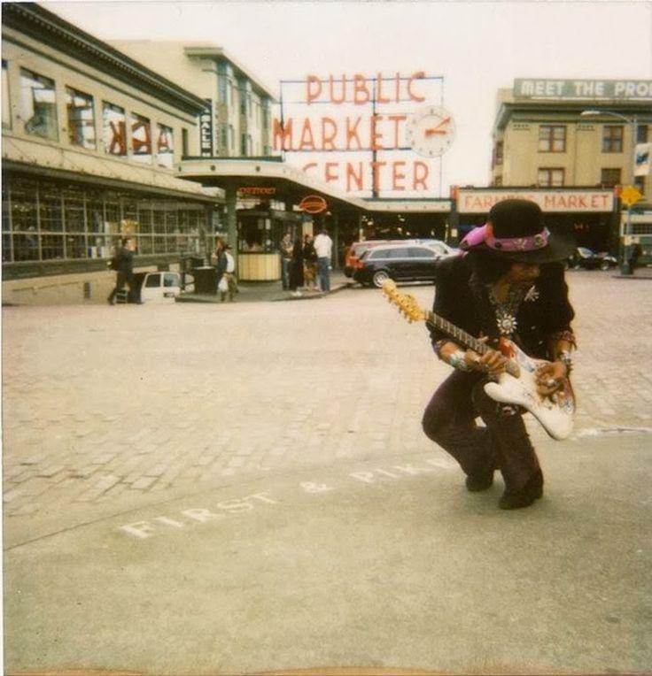 jimi hendrix / pike place market, seattle, washington