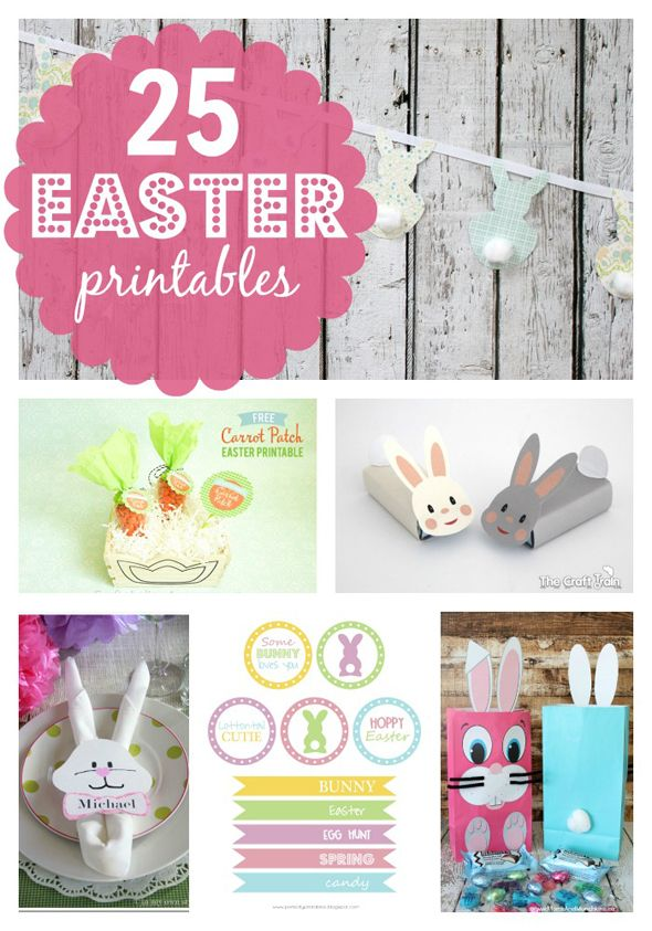 25 Free Easter Printables
