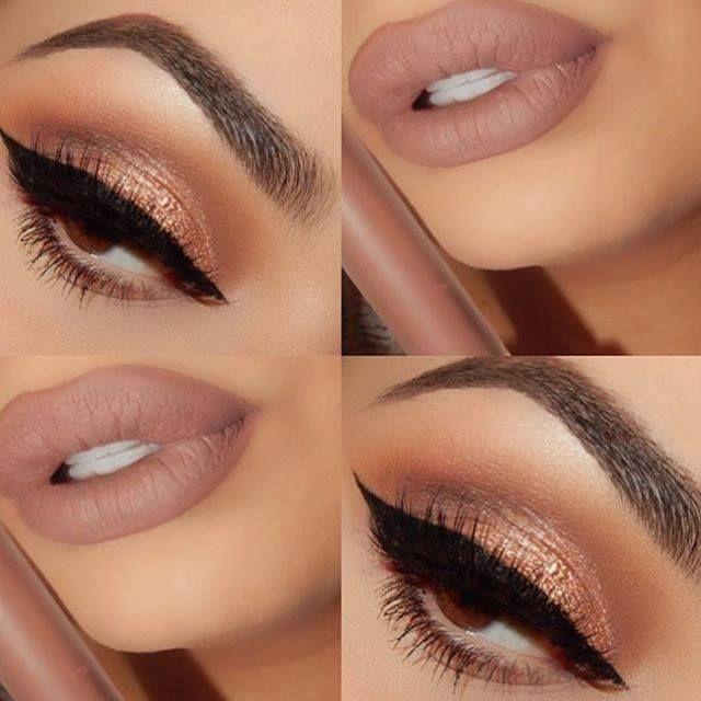 Bronzed Eyes & Nude Lips #beautyinthebag #nudes