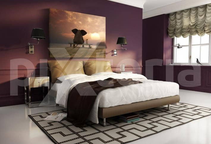 Leinwandbild für Schlafzimmer - Elefant