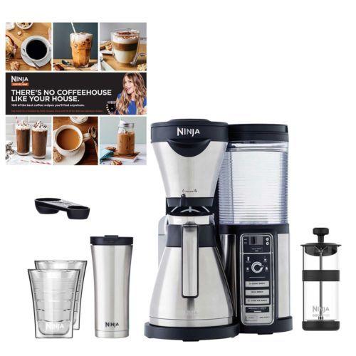 Refurbished-Ninja-Thermal-Coffee-Bar-w-Recipes-Travel-Mug-14oz-Insulated-Cups