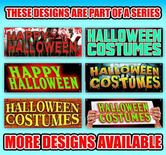 Happy Halloween 13 Oz Heavy Duty Vinyl Banner Sign With Metal Grommets New Store Advertising Flag Many Sizes Available In 2020 Vinyl Banners Halloween Costumes Outdoor Vinyl Banners