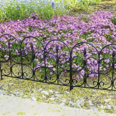 Charming Emsco Victorian Fleur De Lis Medium 16 In. Resin Garden Fence (12 Pack