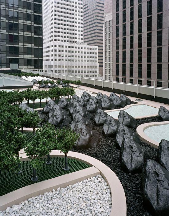 The Museum of Modern Art Roof Garden, designed by Ken ...
