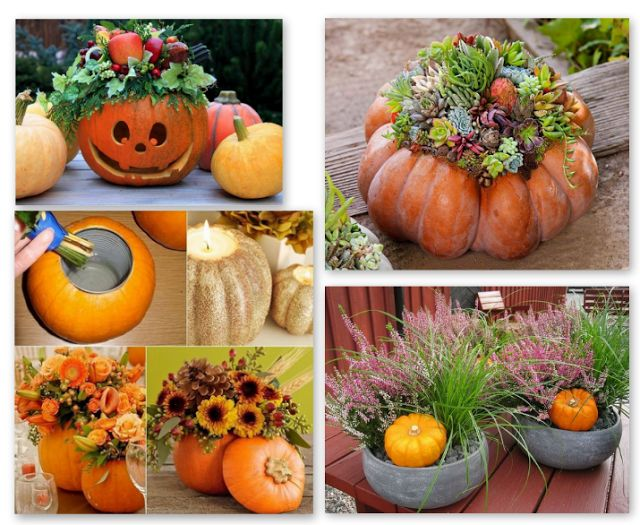jesienne dekoracje, jesień, dynia, inspiracje, halloween, wrzos