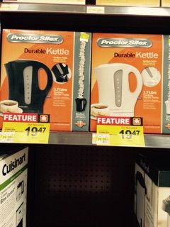 Savings on electric kettles! Comes in both Black and White!