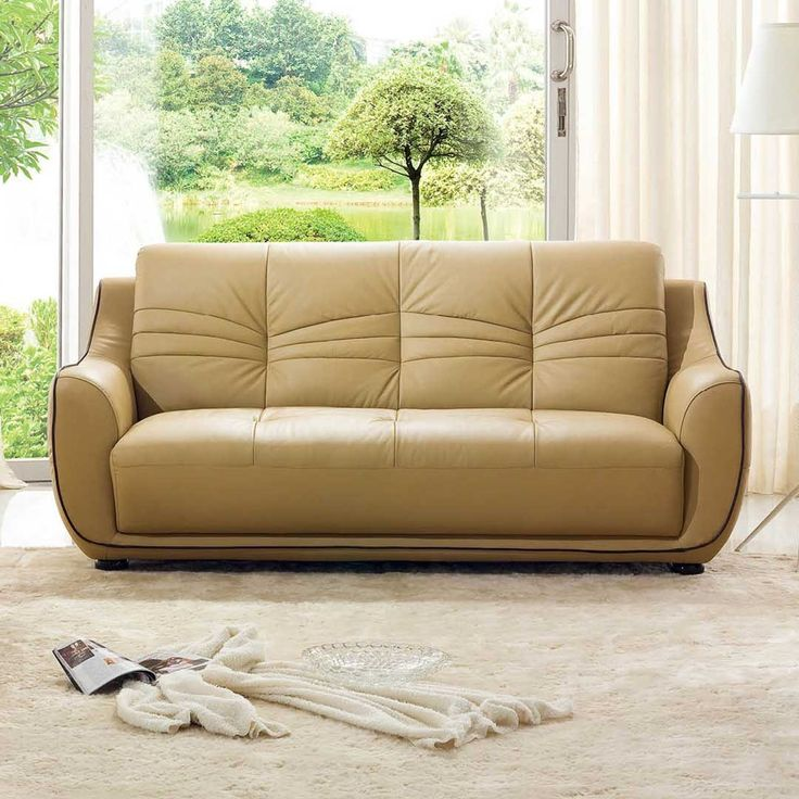 Sectional Sofas  Sofa Beige Leather Sofa