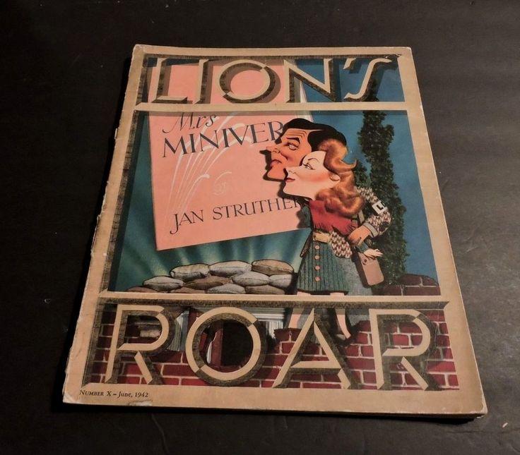 LION'S ROAR MGM TRADE MAGAZINE 6/1942 KAPRALIK GREER GARSON NORMA SHEARER TARZAN