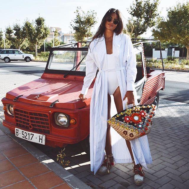 Marta Lozano long coat shirt️