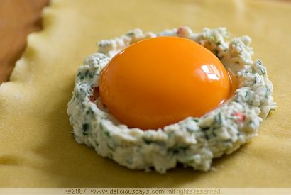 Uova da Raviolo (raviolo with an egg inside). How have I never had this dish? It looks exquisite.
